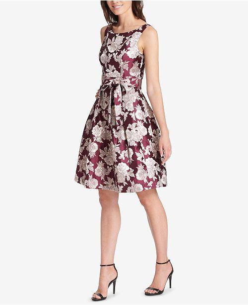 47fc58f822ced Jessica Howard Floral-Print Fit & Flare Dress & Reviews - Dresses ...