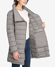 DKNY Asymmetrical Packable Puffer Coat, Created for Macy's