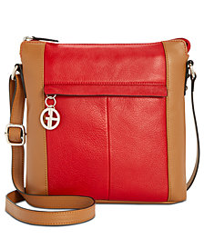 Giani Bernini Nappa Leather Vertical Colorblock Crossbody, Created for Macy's