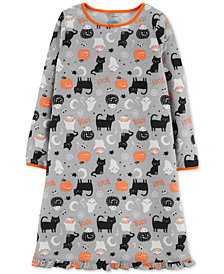 Carter's Little & Big Girls Halloween Cat Graphic Nightgown