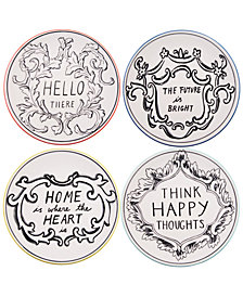 Home Essentials Molly Hatch Good Thoughts Salad Plates, Set of 4