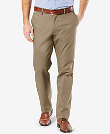 NEW Dockers Mens' Signature Lux Cotton Straight Fit Stretch Khaki Pants