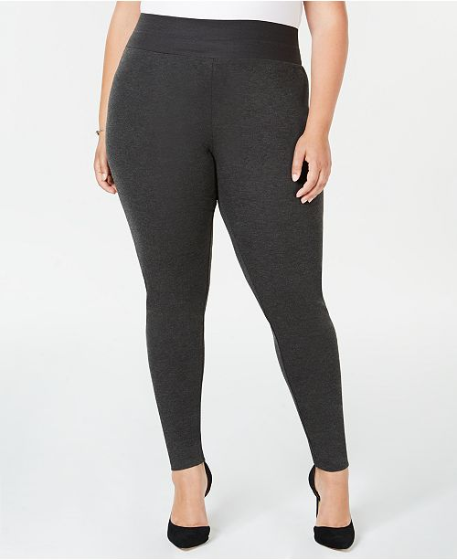 INC International Concepts I.N.C. Shaping Plus Size Smoothing Leggings, Created for Macy's