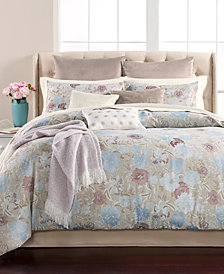 Martha Stewart Collection Faded Floral 220-Thread Count 14-Pc. Comforter Sets, Created for Macy's