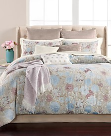 CLOSEOUT! Martha Stewart Collection Faded Floral 220-Thread Count 14-Pc. Comforter Sets, Created for Macy's