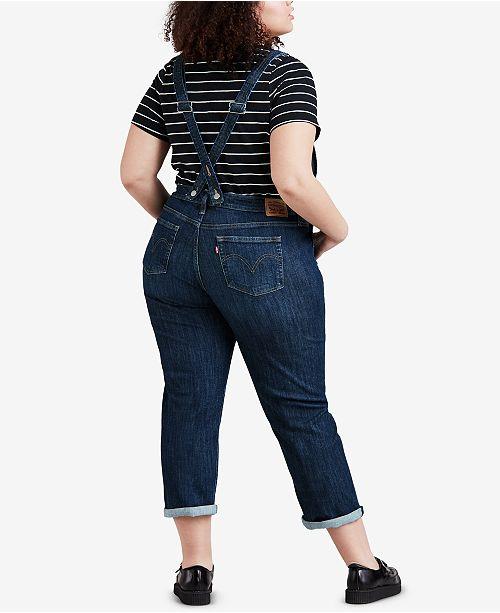 Levis Plus Size Denim Overalls Jeans Plus Sizes Macys