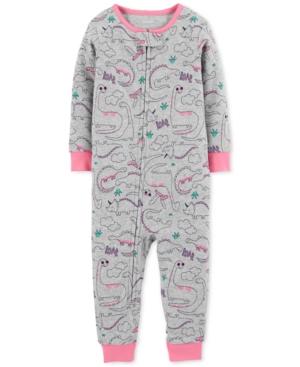 Carters Baby Girls DinosaurPrint Cotton Pajamas