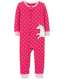 Carter's Baby Girls Unicorn Cotton Pajamas