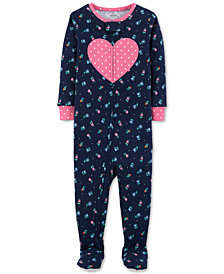 Carter's Baby Girls Cotton Footed Pajamas