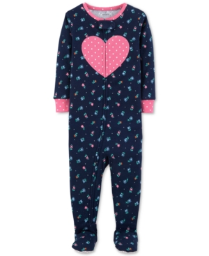 Carters Baby Girls Cotton Footed Pajamas