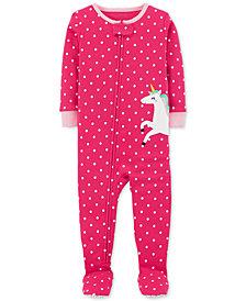 Carter's Baby Girls Unicorn Cotton Footed Pajamas