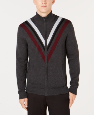 Men's Vintage Sweaters – 1920s to 1960s Retro Jumpers Alfani Mens Zip-Front Cardigan Created for Macys $20.93 AT vintagedancer.com
