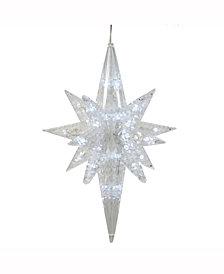 """20"""" 50 Pure White LED Lights Bethlehem Star Christmas Ornament"""