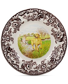 Woodland Yellow Lab Dinner Plate