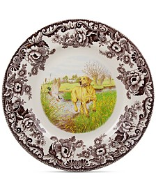 Spode Woodland Yellow Lab Dinner Plate