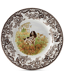 Spode Woodland English Spaniel Dinner Plate
