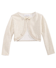 Bonnie Jean Big Girls Metallic Flyaway Cardigan