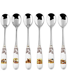 Spode Woodland Bird Teaspoons, Set of 6