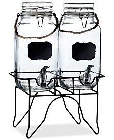 Jay Imports Newcastle Double Beverage Dispenser Set w/Stand