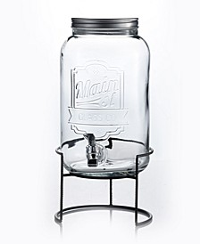 Main Street 2-Gallon Beverage Dispenser with Rack