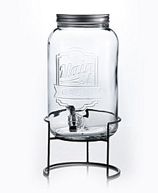 Jay Imports Main Street 2-Gallon Beverage Dispenser with Rack