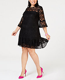 Betsey Johnson Plus Size Lace Shift Dress