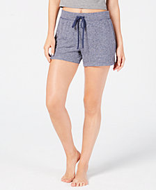 Alfani Brushed Soft Knit Sleep Shorts, Created for Macy's