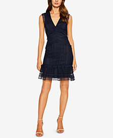 Bardot Ruffle-Trim Lace Sheath Dress