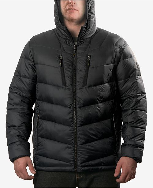 Club Room Hawke & Co. Outfitter Men's Packable Chevron Parka