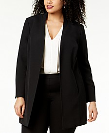 Plus Size Open-Front Topper Jacket