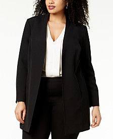 9f2fae49678 Kasper Plus Size Open-Front Topper Jacket