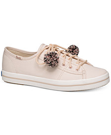 Keds Women's Kickstart Pom Pom Lace-Up Fashion Sneakers