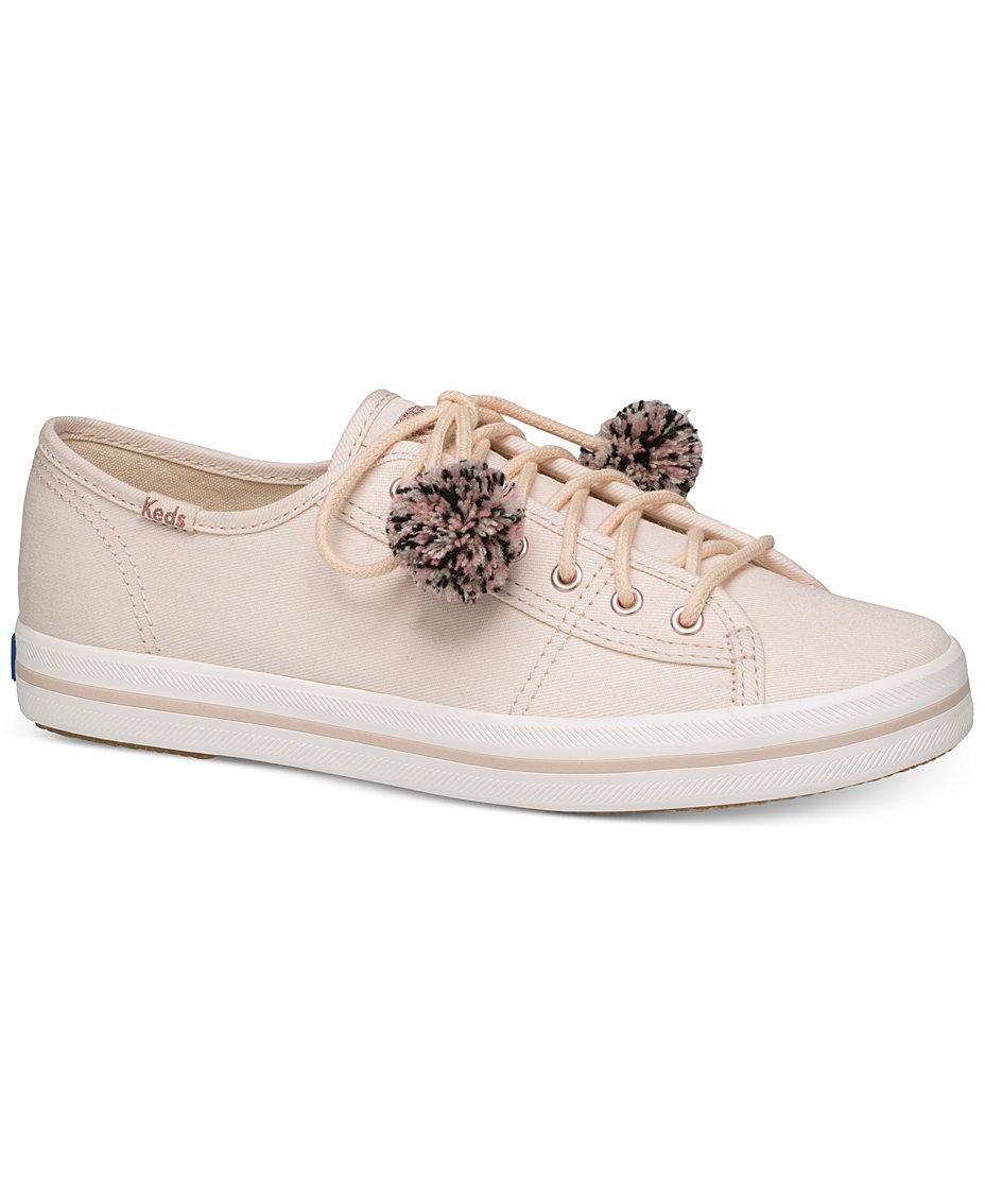 21b3f856ed6 Keds Women s Kickstart Pom Pom Lace-Up Fashion Sneakers ...