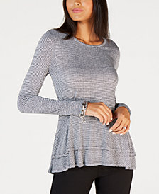 MICHAEL Michael Kors Mini Tweed Double Hem Top, In Regular & Petites