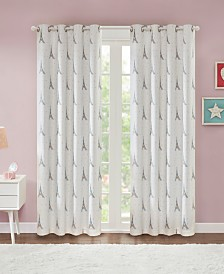 "Urban Dreams Minette 50"" x 84"" Total Blackout Grommet Window Panel Pair, Created for Macy's"