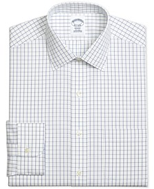 Men's Regent Slim-Fit Non-Iron Windowpane Pinpoint Blue Dress Shirt