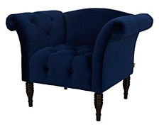 Danica Velvet Hand Tufted Arm Chair