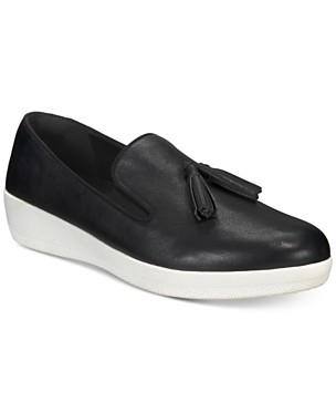 핏플랍 테슬 슈퍼스케이트 슬립온 스니커즈 - 블랙 FitFlop Tassel Superskate Slip-On Sneakers,Black