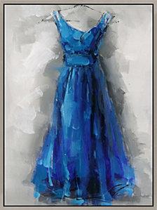 BLUE DRESS WALL DECO