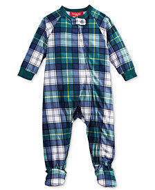 Matching Family Pajamas Infants Mackenzie Plaid Footed Pajamas, Created For Macy's
