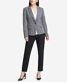 DKNY One-Button Blazer & Straight-Leg Pants, Created for Macy's