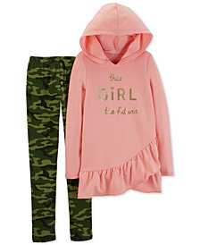 Carter's Little & Big Girls 2-Pc. Hooded Tunic & Leggings Set