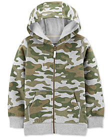 Carter's Little & Big Boys Full-Zip Camo Fleece Hoodie