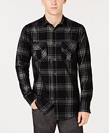 I.N.C. Men's Dual-Pocket Plaid Shirt, Created for Macy's