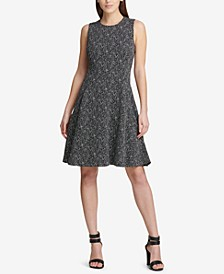 Tweed Fit & Flare Dress, Created for Macy's