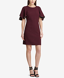 DKNY Flutter-Sleeve Shift Dress, Created for Macy's