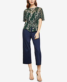 BCBGMAXAZRIA Stream of Bloom Ruffle Top