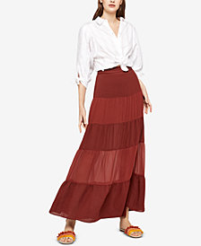BCBGeneration Tiered Maxi Skirt