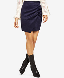 BCBGeneration Ruched Envelope-Hem Mini Skirt