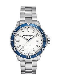 LIMITED EDITION  Men's Swiss Tango 300 Stainless Steel Bracelet Watch 42mm, Created for Macy's - A Limited Edition